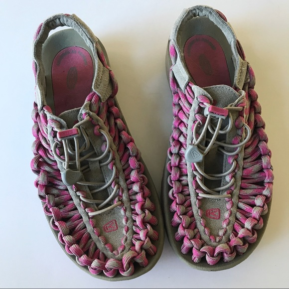 Keen Shoes - Keen Uneek Bungee Sandals Sz 7.5 pink Gray